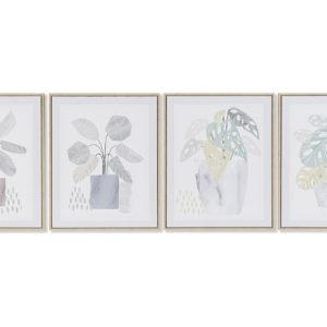 cuadro lienzo cuatro plantas