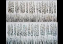 cuadro oleo rama silvestre tono azul1
