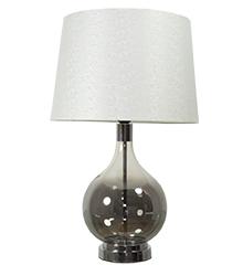 lampara cristal ahumado bola