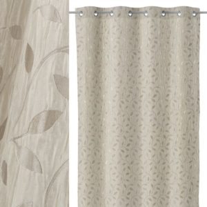 cortina jacquard fancy beige oro