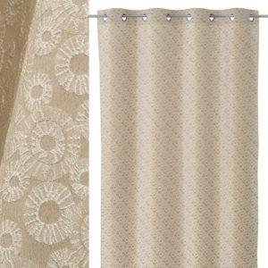 cortina jacquard suns beige-oro