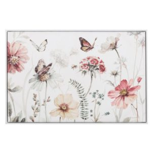 cuadro con marco fotoimpresion lienzo mariposas