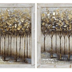 cuadro-marco-de -madera-arboles