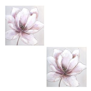cuadro oleo flor
