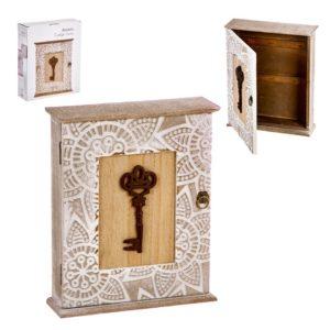 cuelga llaves madera mandala