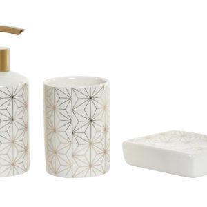 juego-de baño-porcelana-geometrico-dorado