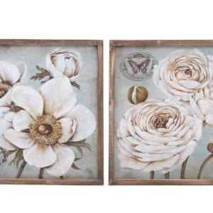 set-2-lienzos-flores-azules-marco-de-madera