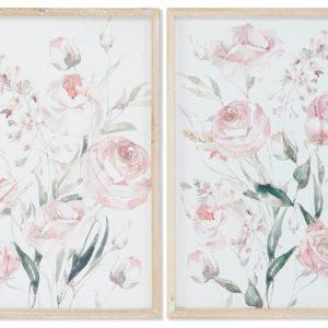 cuadro rosas estilo nordico